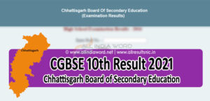 CG Board 10th Result 2021